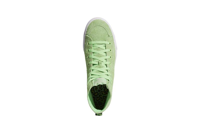 adidas skateboarding na-kel smith nizza collaboration sneakers green suede
