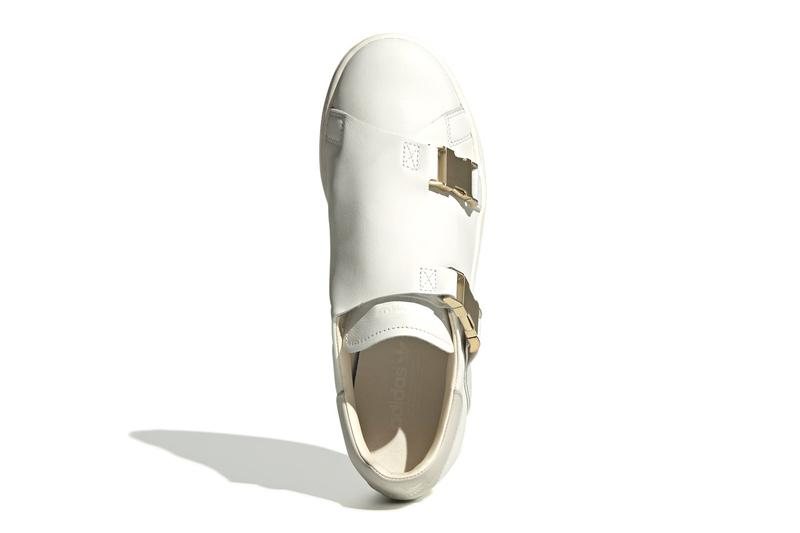 adidas originals stan smith gold buckle white running off raw sneakers shoes minimalist
