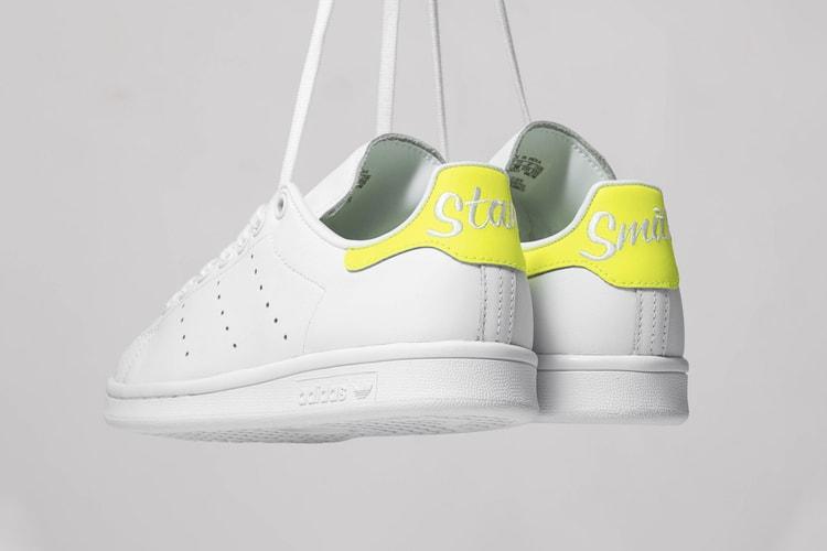 best authentic 52791 ace7c adidas' Stan Smith Cursive Heel in Black & White | HYPEBAE