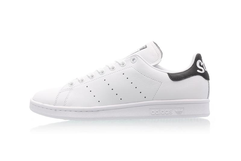 best authentic fe9cb 14c00 adidas' Stan Smith Cursive Heel in Black & White | HYPEBAE