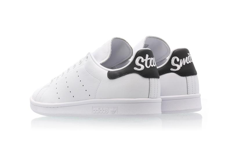best authentic 1c3ae 8ea43 adidas' Stan Smith Cursive Heel in Black & White | HYPEBAE