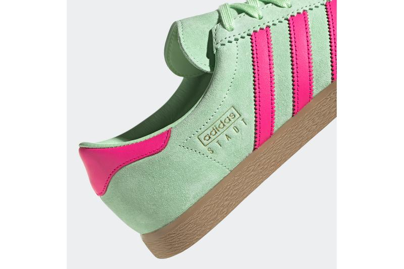 adidas terrace stadt trainers sneakers neon green hot pink shoes footwear sneakerhead
