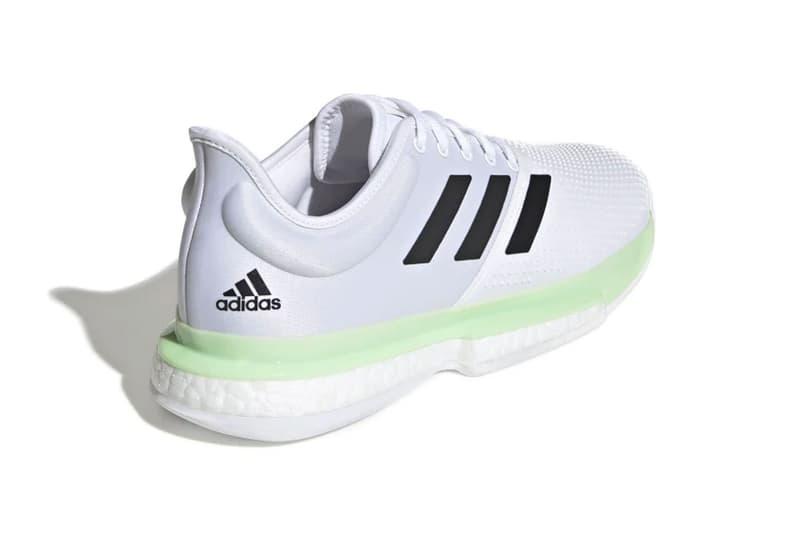adidas us open tennis solecourt womens sneakers glow green mint boost garbine muguruza