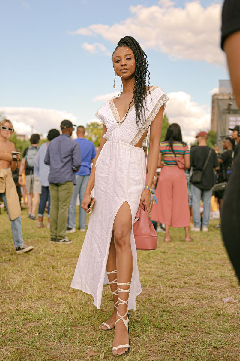 Afropunk 2019 Festival Street Style Dress White