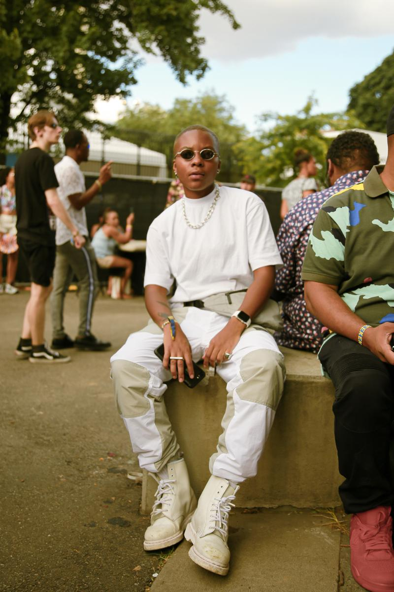 Afropunk 2019 Festival Street Style Top Pants White