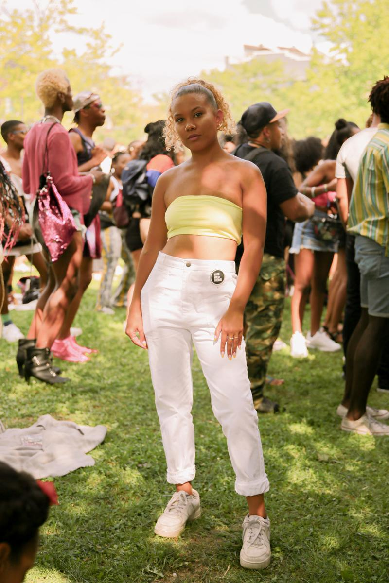 Afropunk 2019 Festival Street Style Top Yellow Pants White