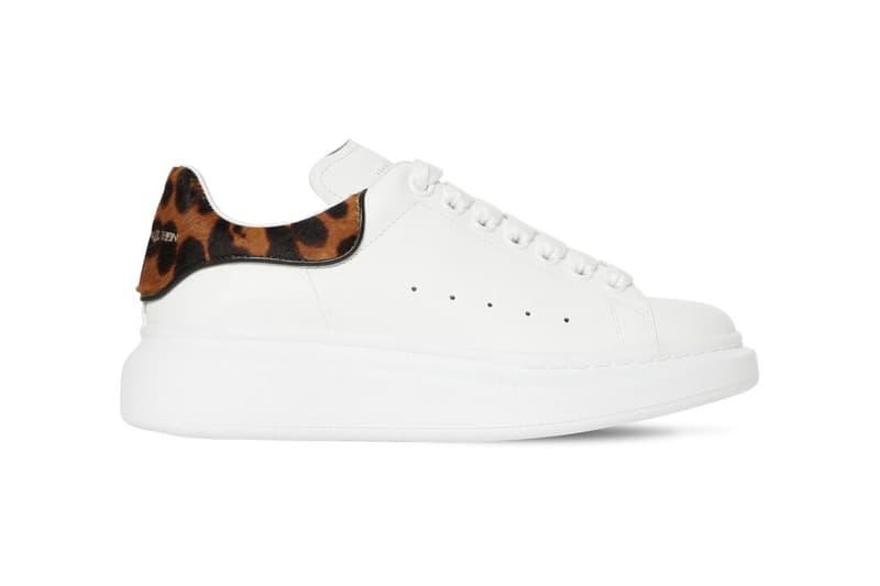 alexander mcqueen leopard print womens sneakers animal