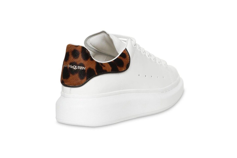 white sneakers with cheetah print