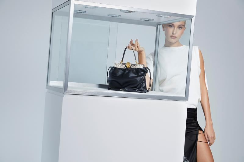 alexander wang bvlgari bag campaign hailey biber baldwin collaboration