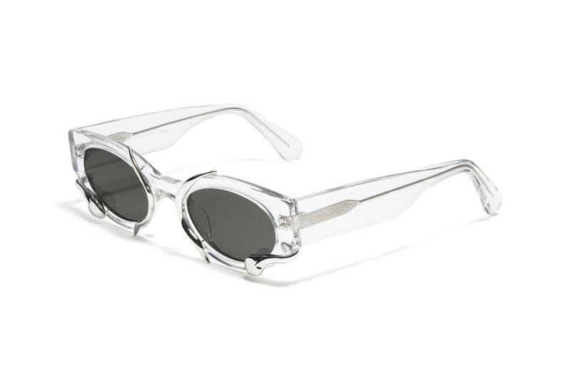 alexander wang gentle monster eyewear sunglasses collaboration snake cat eye clear transparent