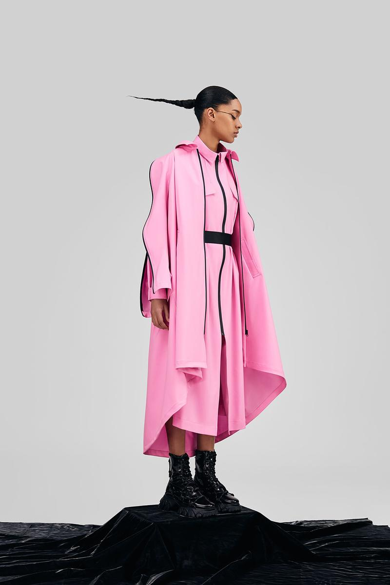 angel chen woolmark prize finalist collection wool sustainability coats dresses