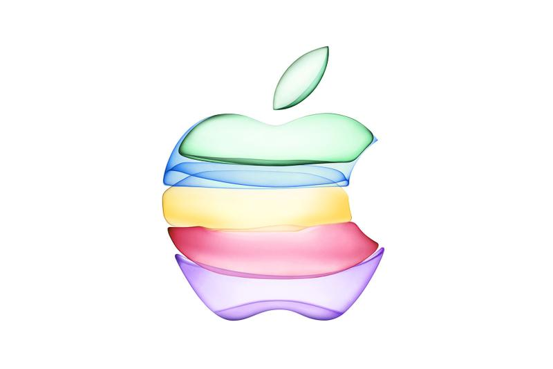 apple tech technology iphone rainbow logo green blue yellow red purple