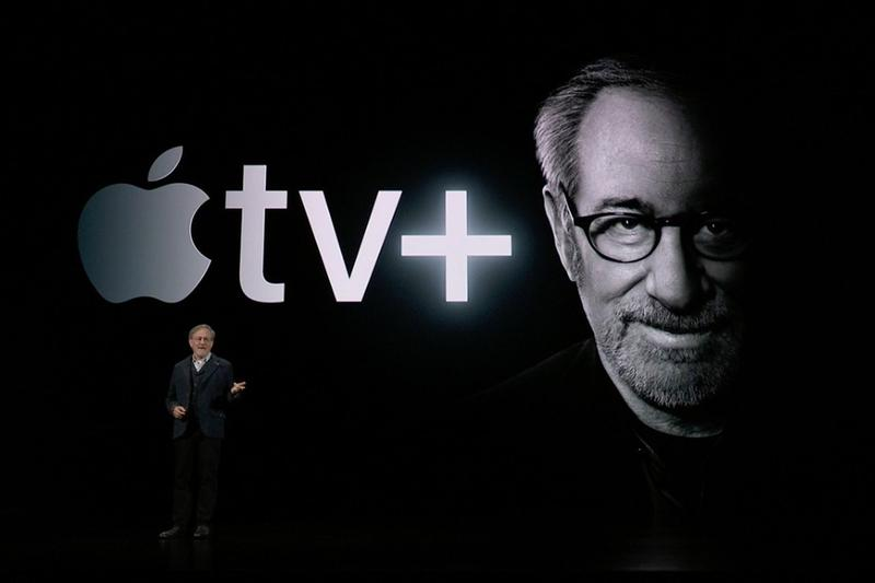 apple tv tech technology streaming service steven spielberg glasses presentation