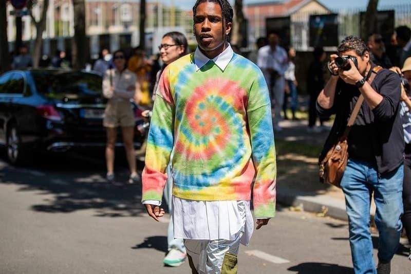ASAP Rocky Tie Dye Sweater Green Blue Pink