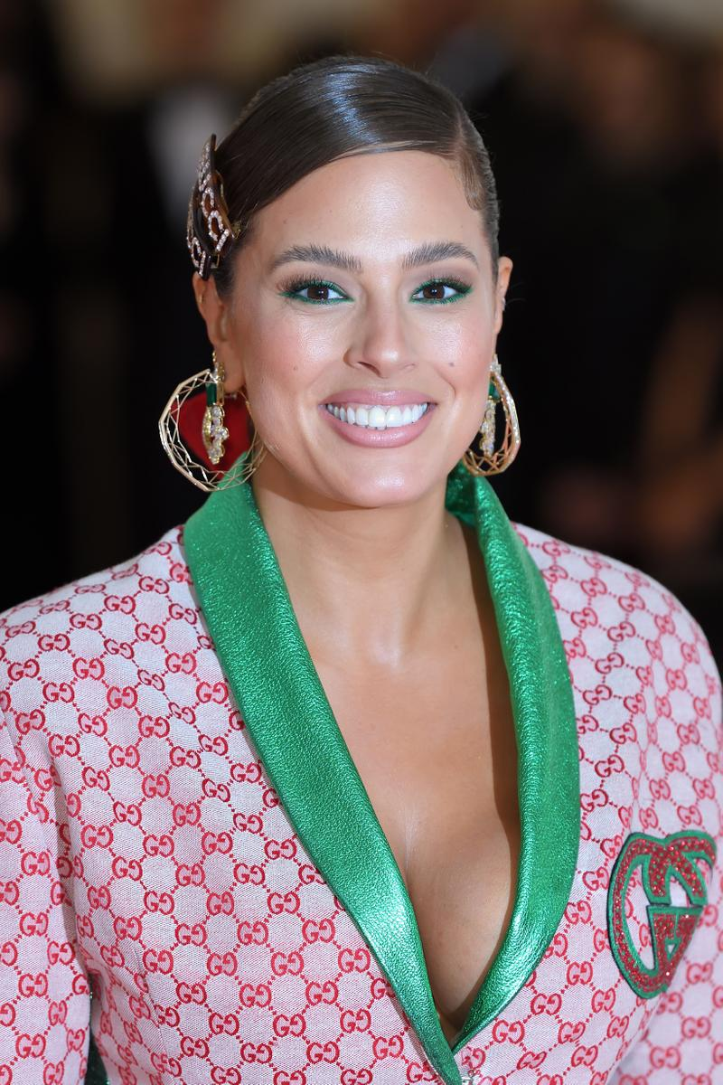 Ashley Graham 2019 Met Gala Gucci Blazer Red Green
