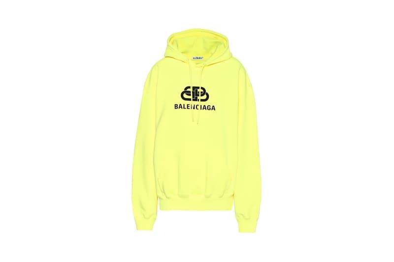 balencaiga neon lego cotton hoodie lime black yellow highlighter bright vibrant cozy