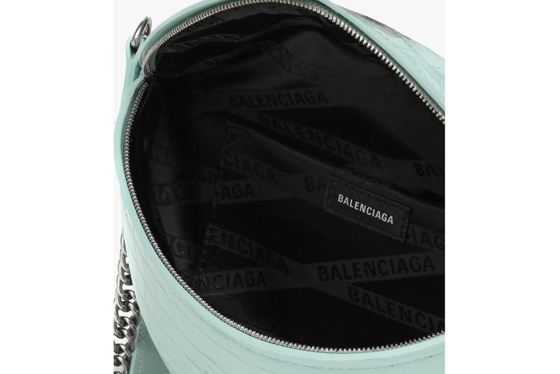 balenciaga souvenirs xxs leather belt bag designer tiffany blue black fashion