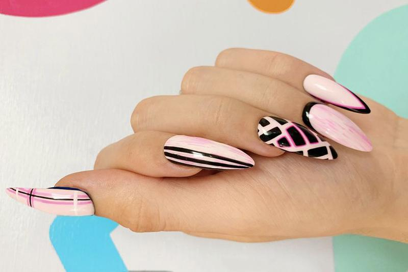 NAF! Salon Fifa World Cup Nails Argentina Design Pink Black
