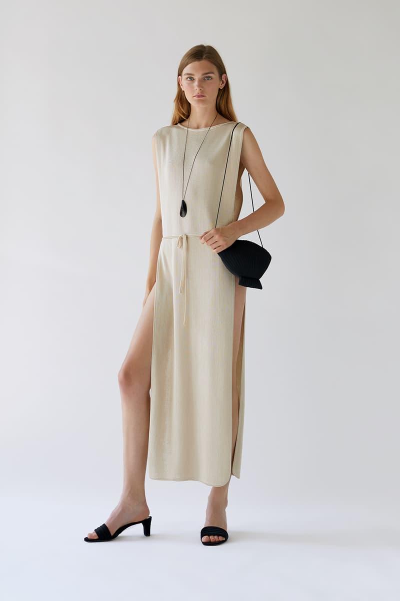 bevza spring summer lookbook beige cream dress