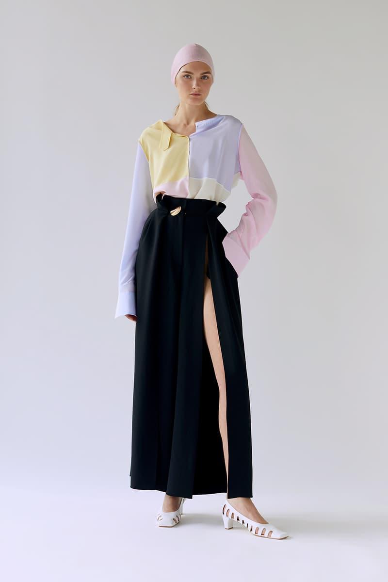 bevza spring summer lookbook black skirt
