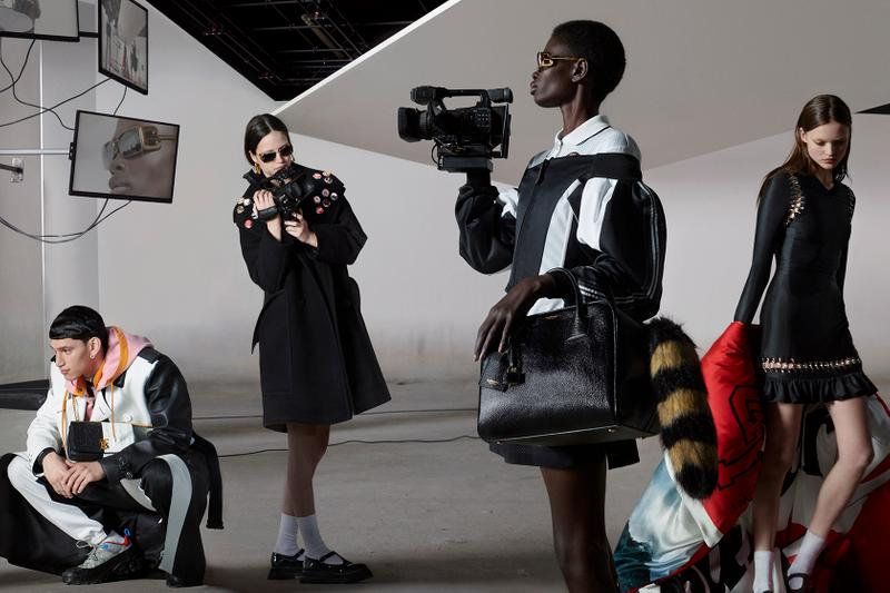 burberry fall winter campaign 2019 video camera models black trench coat