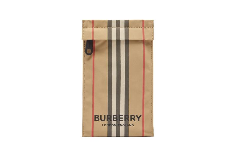 burberry phone pouch Heritage Stripe Canvas riccardo tisci check accessories