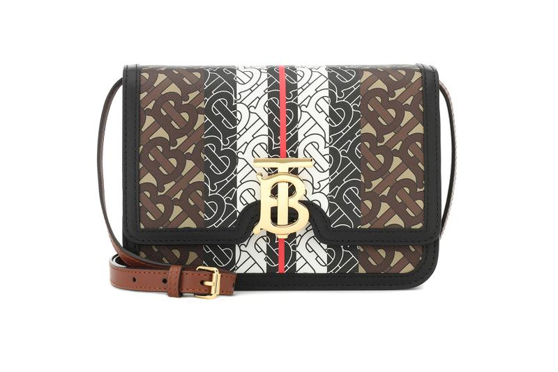 burberry monogram tb leather designer bag riccardo tisci brown black white