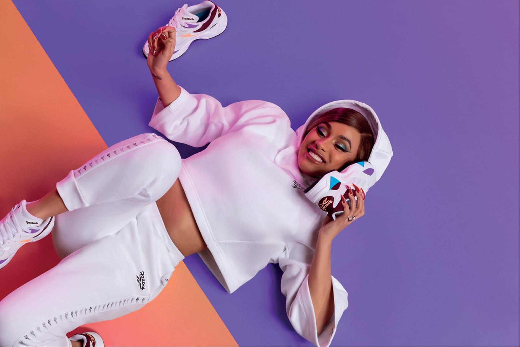 Cardi B Reebok Aztrek Double Sneaker