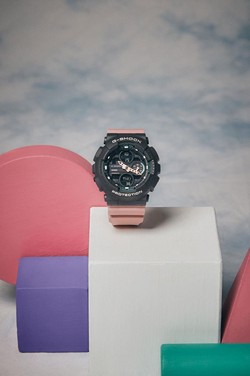 Casio G Shock Pink Watch GMAS140- 4A Spring Summer 2019 Lookbook