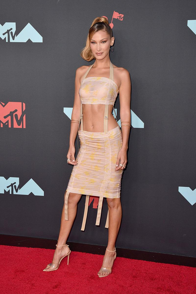 bella hadid mtv vmas red carpet designer charlotte knowles dress chrome hearts