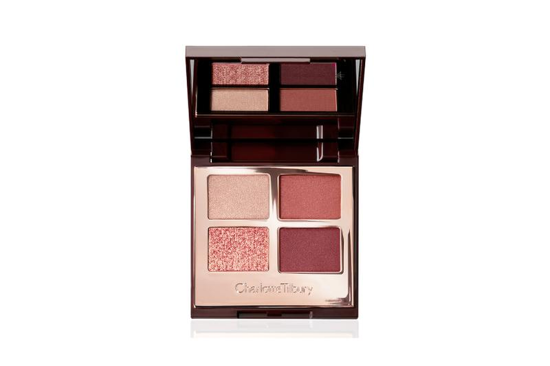 charlotte tilbury eyeshadow palette walk of shame makeup beauty russet pink champagne berry purple red glitter mauve