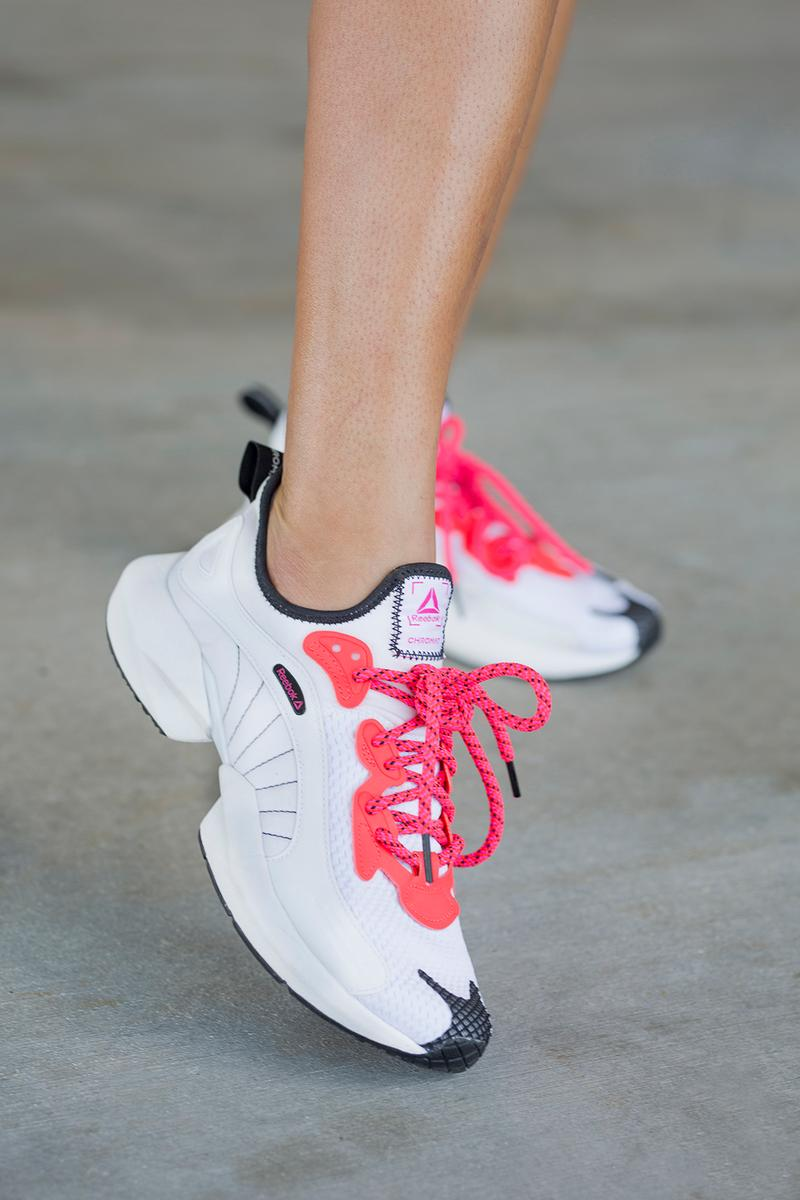 chromat reebok sole fury sneaker collaboration bright neon