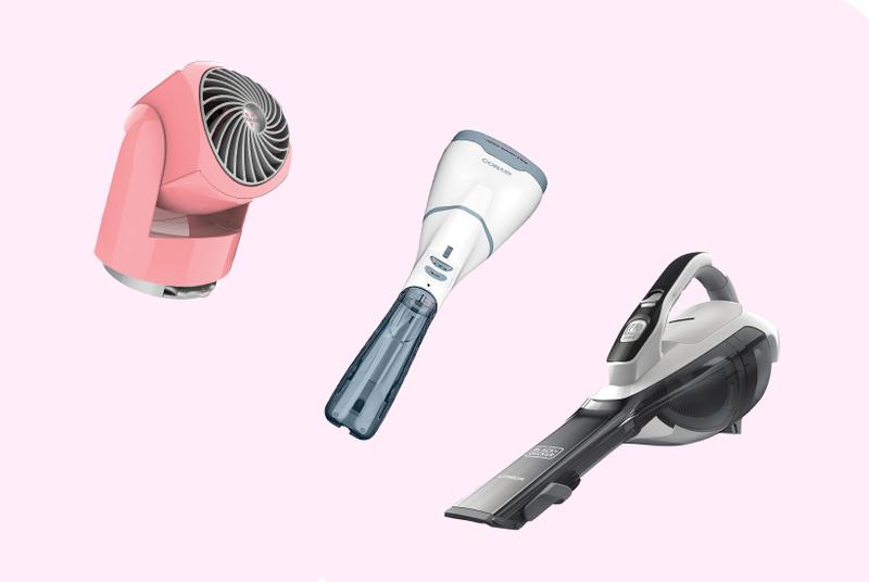 Black & Decker Cordless Vacuum Grey Black Conair Fabric Steamer Blue White Vornado Fan Pink