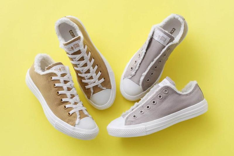 Converse Chuck Taylor All Star Slip Fleece Gray Camel White