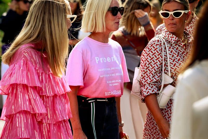 Copenhagen Fashion Week CPHFW Spring Summer 2020 Street Style SS20 Influencers Proenza Schouler Pink T-shirt