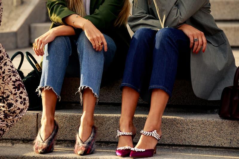 Copenhagen Fashion Week CPHFW Spring Summer 2020 Street Style SS20 Influencer Celine Phoebe Philo Plaid Fuzzy High Heels
