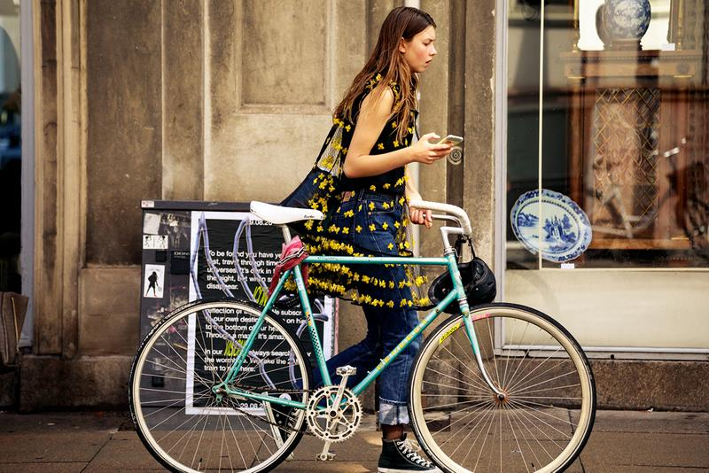 Copenhagen Fashion Week CPHFW Spring Summer 2020 Street Style SS20 Influencer Bike