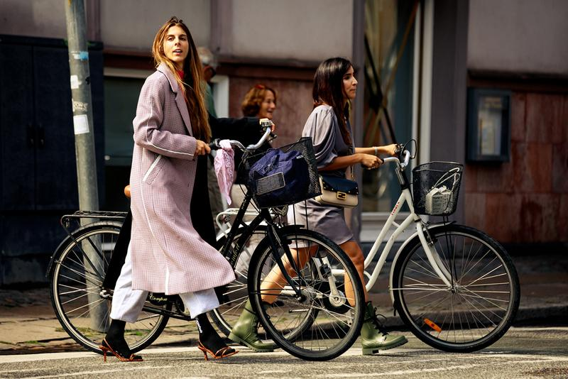 Copenhagen Fashion Week CPHFW Spring Summer 2020 Street Style SS20 Influencers Bike