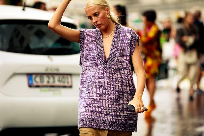 Copenhagen Fashion Week CPHFW Spring Summer 2020 Street Style SS20 Influencer Knit Vest