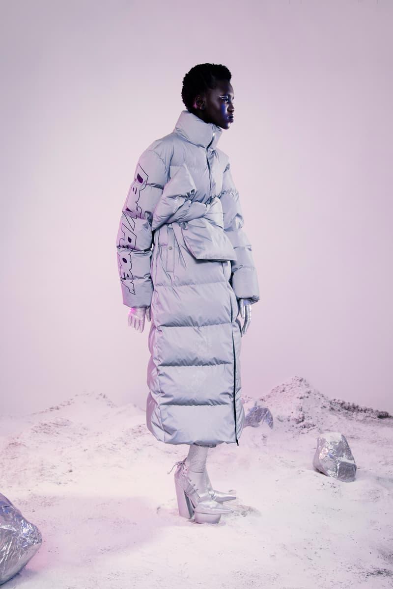 Daily Paper Fall Winter 2019 Lookbook Puffer Coat Silver