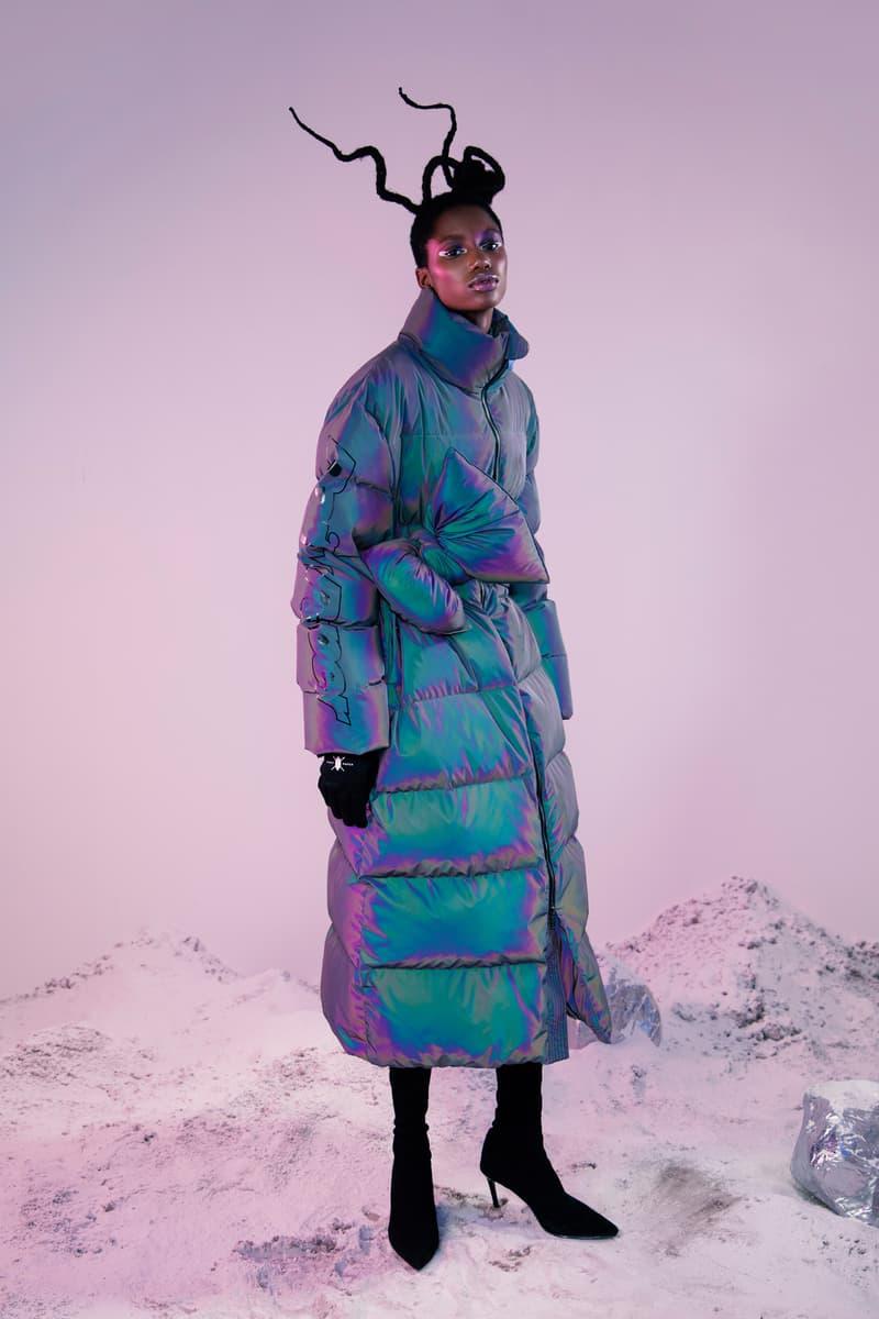 Daily Paper Fall Winter 2019 Lookbook Puffer Coat Blue
