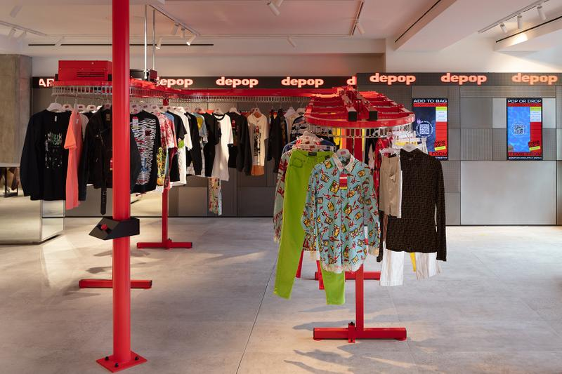 Depop Resale Shopping App London Selfridges Store Pop Up Retail