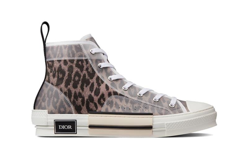 dior leopard print b23 sneaker brown high top
