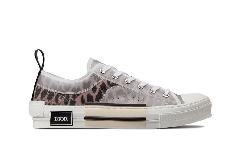dior leopard print b23 sneaker brown low top