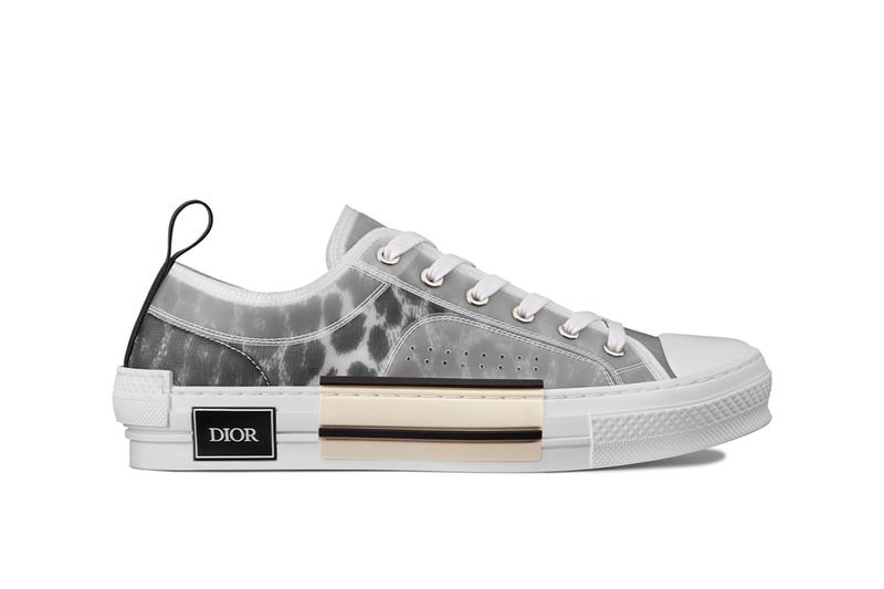 dior leopard print b23 sneaker grey gray low top