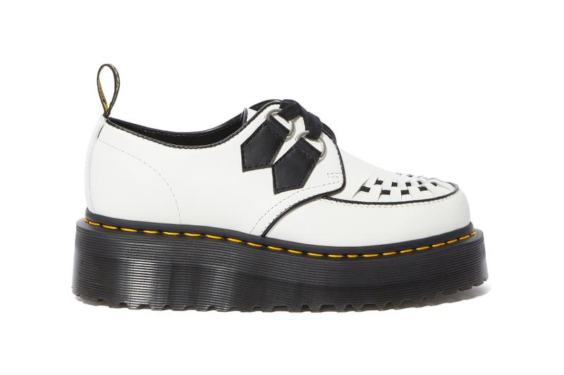dr martens quad creeper sidney platform shoes white