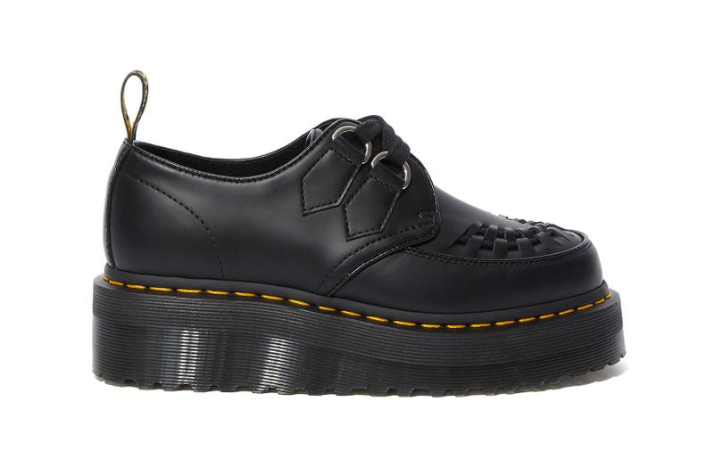 dr martens quad creeper sidney platform shoes black