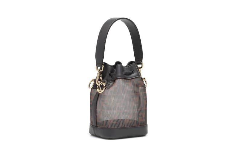 fendi mon tresor mesh bucket bag designer fashion luxury