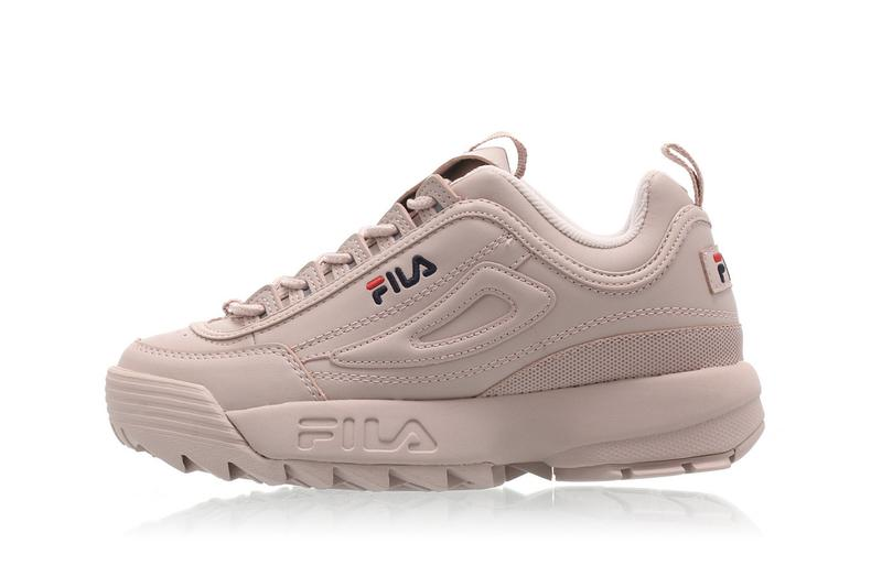 "FILA Disruptor 2 Pink ""Rose Smoke"" Sneaker Shoe Trainer Chunky Trendy Logo Pastel Dusty"
