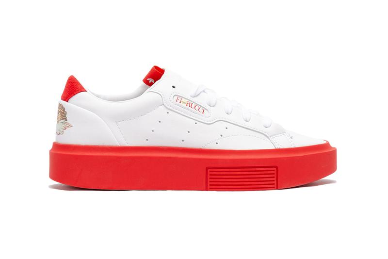 adidas originals fiorucci super sleek red white sneaker collaboration